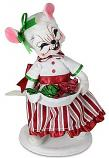 """Annalee 6"""" Christmas Candy Girl Mouse 2021 - Mint - 611621"""