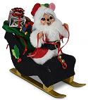 "Annalee 5"" Santa Mouse with Sleigh 2020 - Mint - 612320"