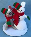 "Annalee 4"" Just Like Me Sno-Mouse with Snowman - Near Mint - 778103a"