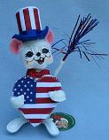 """Annalee 6"""" Uncle Sam's Heart Mouse 2018 - Mint - 851018"""