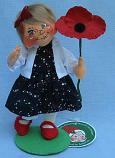 """Annalee 7"""" Remember and Honor Patriotic Girl - Mint - 852021ox"""