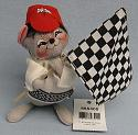 """Annalee 7"""" Finish Line Racing Mouse - Mint - 855405sq"""