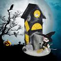 "Annalee 10"" Haunted House with 3"" Witch Mouse 2020 - Mint - 860620"