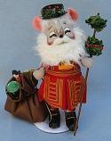"Annalee 6"" British Santa Mouse - Near Mint - 944804sq"