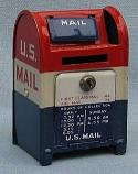 "Annalee 2.5"" Metal U.S. MAIL Mailbox Bank - Near Mint"