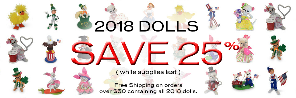2018 at 25% off - Orders over $50 ship free
