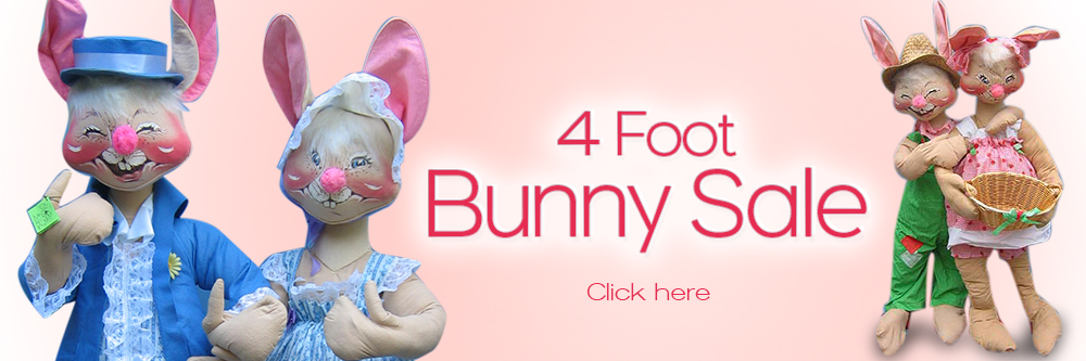 "Annalee 4 Foot Bunnies - Annalee 48"" Bunnies"