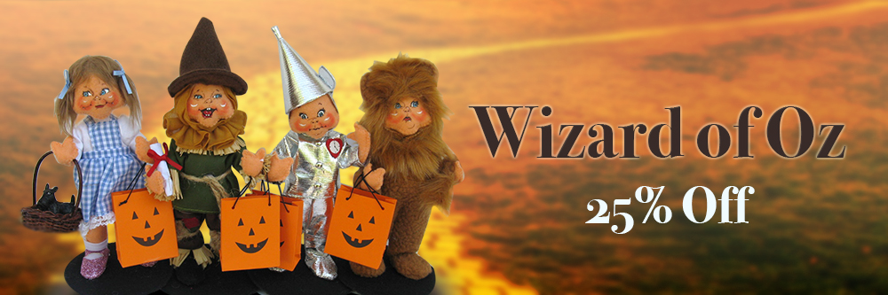 25% off 2018 Wizard of Oz Halloween Annalee Dolls - Free Ship over $50 Containing all 2018