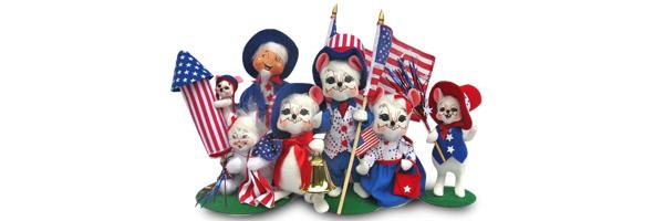 2014 Annalee Patriotic Dolls