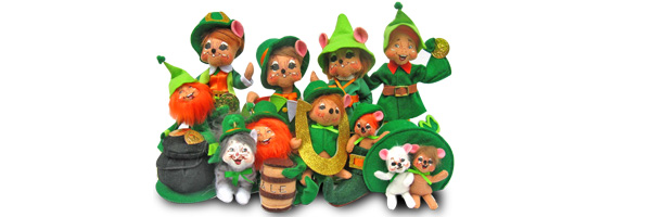 2014 Annalee St Patricks Day Dolls