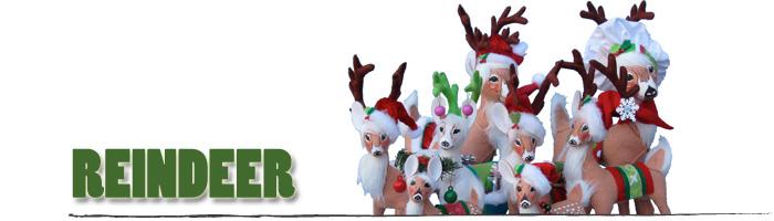 Annalee Reindeer, Doe, Fawn and Deer
